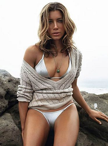 For all my talk of huge breasteses, I picked this photo of Jessica Biel because of those amazing, silkenly smooth thighs.  Imagine motorboating with a bikini-clad, large-breasted Democrat such as Jessica Biel.  If you are a Democrat, you might not even need a boat.