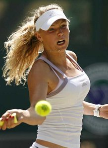 Hi, I am Caroline Wozniacki. Do you like my nice breasts?
