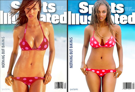The massively busty Tyra Banks in a bikini 10 years apart: If Tyra can quit ...